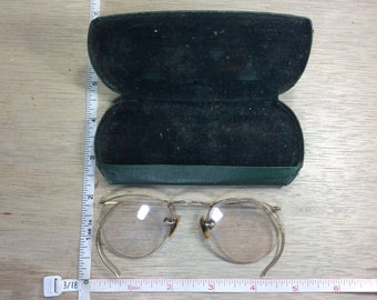 Vintage Old Gold Filled Eyeglasses In Case Bifocals Used