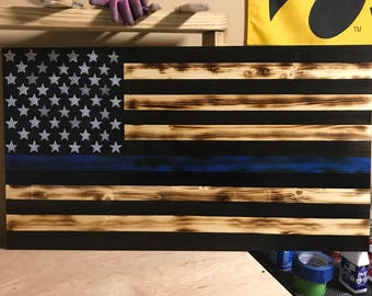 Rustic Thin Blue Line