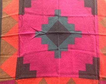 Vintage Cinzia Verga silk shawl scarf made in Italy