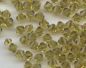 T4 5301 L *** 20 bicone beads crystal Swarovski 5mm LIME