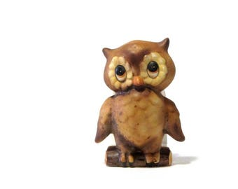 Owl Napkin Holder Ceramic Owlet Lorrie Design Letter Stand Recipe Container Retro Kitchen