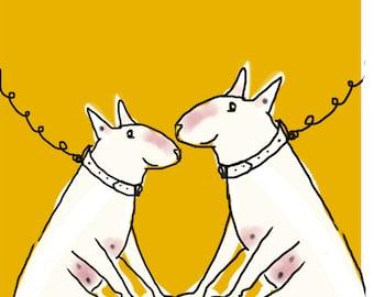 Bull Terrier - Snap - Blank Card - Mutual Admiration Society
