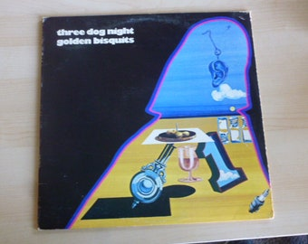 Three Dog Night Golden Bisquits Vinyl Record LP DSX 50098 Dunhill ABC Records 1971