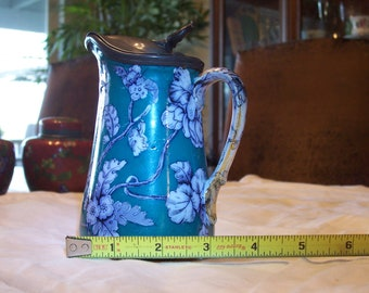Antebellum Syrup Pitcher with well fitted pewter top
