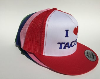 I Love Tacos Hat (red)