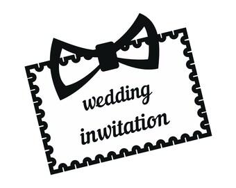 Wedding Invitation Envelope Greeting Card Ceremony Celebration Postcard.SVG.EPS .PNGVectorSpace ClipartDigitalDownload Circuit Cut Cutting