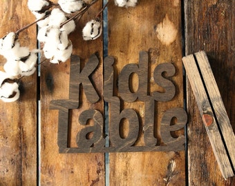 Kids Table Sign Rustic Wedding Kids Table Sign Wedding Table Signs @downintheboondocks