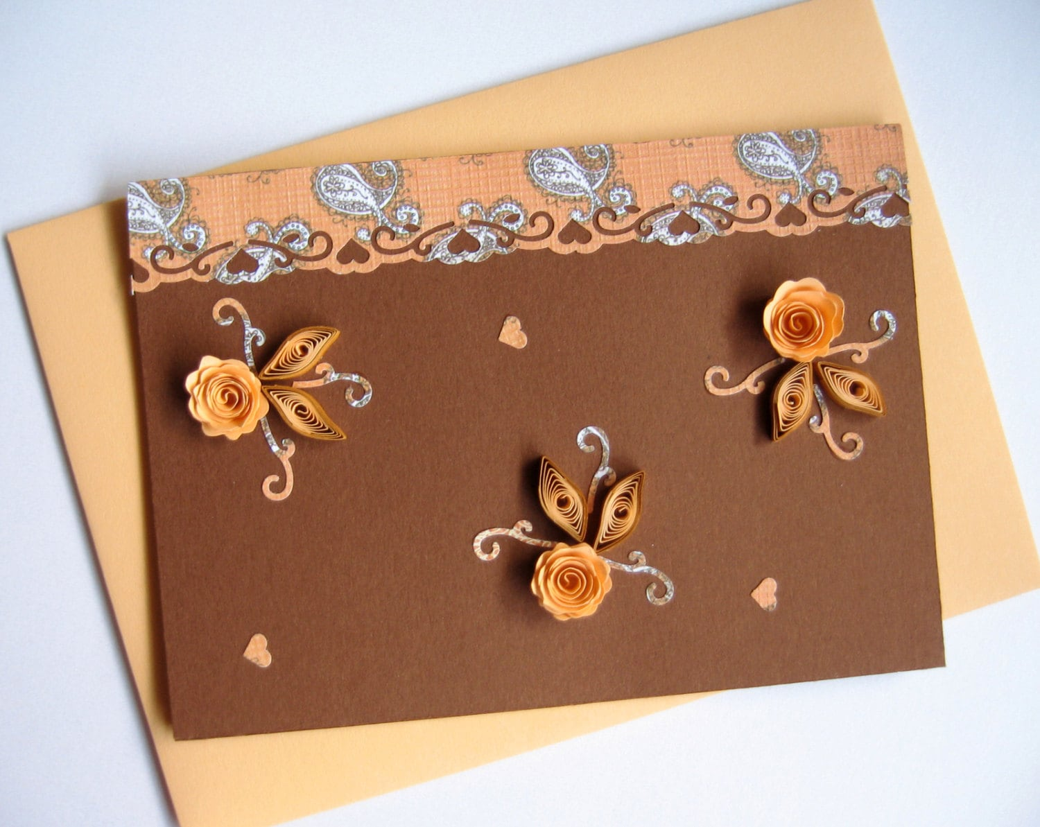 Handmade Quilling Birthday Card Greeting Card Thank You
