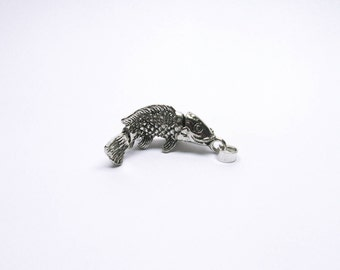 Fish Jewelry Pendant 925/-sterling silver fish Trout Carp