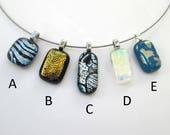 Dichroic glass pendant, g...