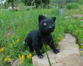 Fully poseable black fox art doll