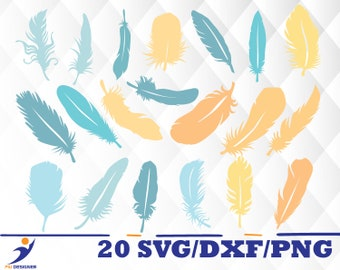 Feather svg,dxf,png/ Feather for Silhouette,Cricut, Print,Design, Art