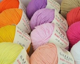 Cotton Knitting Yarn Australia : Gazzal yarn etsy