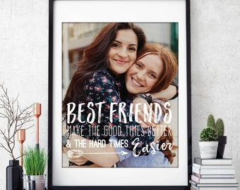 Best Friend Gift, Birthday Gift for Her, Best Friend Quotes, Unique Friendship Gift // ArtPaper Print or Canvas Print // H-Q67-1PS ZZ1 03P