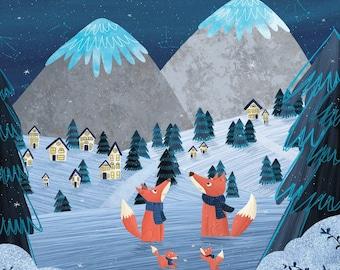 Cozy Winter Foxes