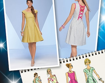 Simplicity 1418 Misses Dresses in 4 different styles. Size 12-20. Pattern is new and uncut.