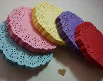 """20 Round Paper Lace Doilies 88mm (3.5"""") *Baby Shower*Wedding* Cards*"""