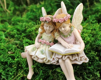 Fairies Paige and Phoebe - Miniature Fairy Garden Supply