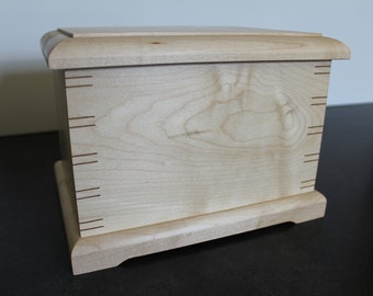 Handmade Maple Wood Cremation Urn
