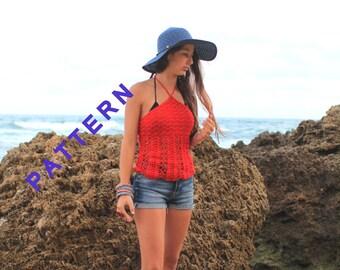 Crochet halter topsTop summer pattern Lacy crochet halter top   Women's crochet top