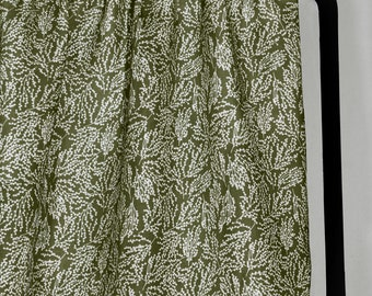 Liza - MOSS - Linen Curtain Fabric - English Fabric - English Linen - Scandi - Modern Country