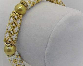 Gold Tile Bracelet