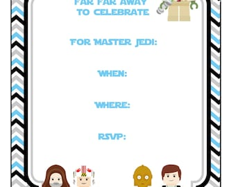 Star wars party invitation birthday party invitation starwars birthday party invitation 5x7 star wars party printable instant downloaddigital filmwisefo