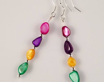 Colorful Shell Earrings One Of A Kind