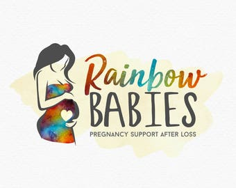 Rainbow Baby Logo , Rainbow Doula Logo , Grief Support Doula , Birth Doula , Postpartum Doula Logo , Midwife Logo , Pregnant After Loss