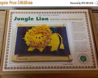 On Sale, The Nature Company, Jungle Lion, Tapestry Loom, Weaving Kit, Friendly Loom Lap Loom Kit, Child's Weaving Loom Kit, Vintage in Box