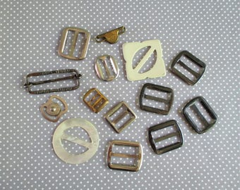 Collection of Little Vintage Buckles and Trims