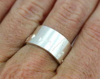 Chicago Skyline Ring Sterling Silver (Made to Order)