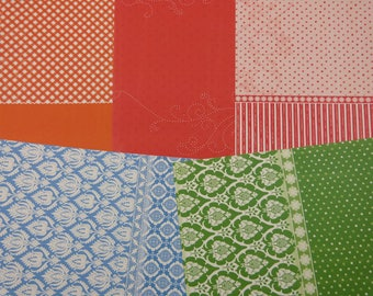 Assortment of papers in bright colors