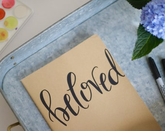 Beloved // Large Moleskine Journal // Hand-Lettered Calligraphy