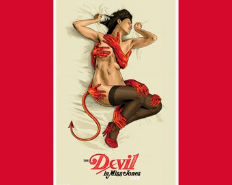 The Devil in Miss Jones Poster Print By Artist Anthony Petrie