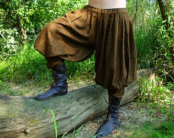 Early Medieval Viking baggy pants / trousers, Historical Pattern , for Viking Reenactors, Viking Costume