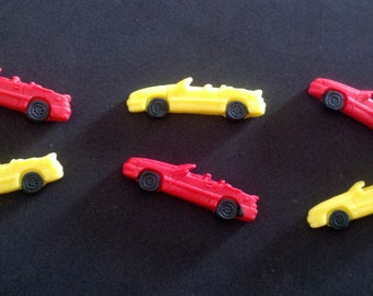 Edible Fondant Convertible Car-Set of 12-Cake/Cupcake Toppers-Cars-Toy Cars