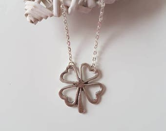 Four Leaf Clover Pendant Necklace, 4 Leaf Clover, Good Luck Necklace, Lucky Charm Jewellery, Good Luck Gift