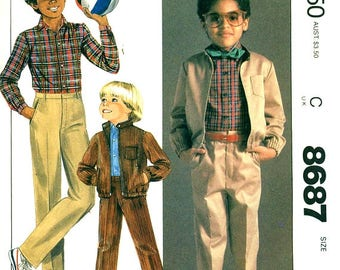 McCall's 8687 Boy's Jacket, Shirt & Pants SIZE CHOICE ©1983 Billy The Kid