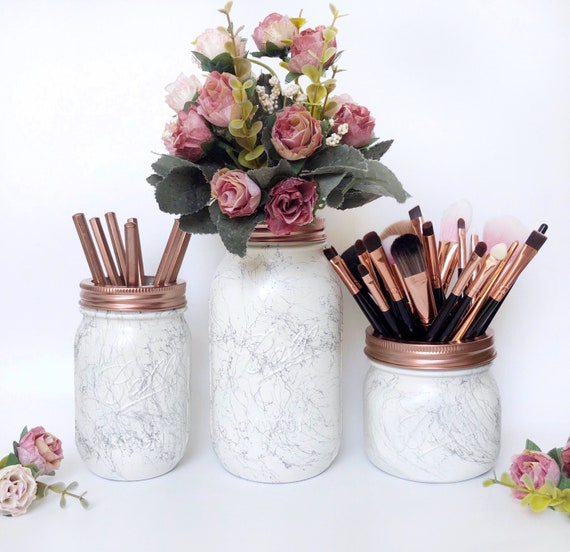 Marble Desk Accessories Rose Gold Marble Marble Home Decor