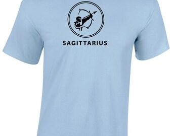Sagittarius zodiac design heavy cotton t-shirt - astrology t-shirt - zodiac sign vinyl design - Sagittarius sun sign/horoscope/zodiac tee