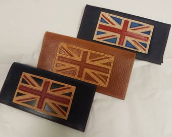 Leather Union Jack Flag Certificate Wallet