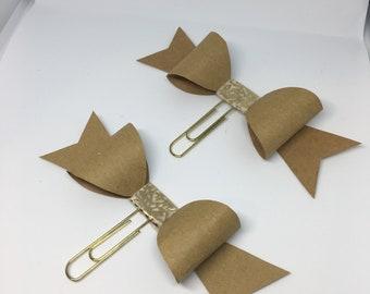 Handmade Paper Clip Bows
