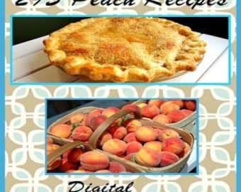 295 Peach Recipes E-Book Cookbook CD Digital Download
