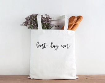 best day ever, best day ever tote, Bride Tote Bag, Bride, Wedding, Wedding tote, Bride gift, mrs tote