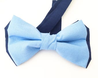 Blue bow tie,Navy Bow tie, Blue bow Ties, Uniform Bow Tie, Blue Uniforn Bow Tie,Navy Necktie,Bow Tie,Light Blue Bow Ties