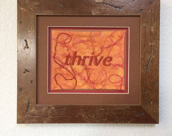 Thrive, word of the year, inspire