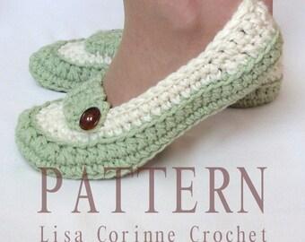 Crochet Slippers PATTERN, Womens House Slippers, Ladies Slippers, Crochet Slippers, Crochet Slipper PATTERN, Women Slippers