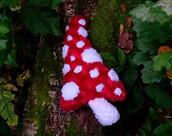 Fly-agaric mushroom soft toy