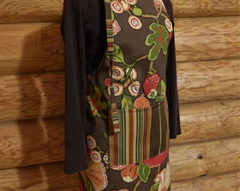 Earthy Floral Apron - One Size Fits All Adults